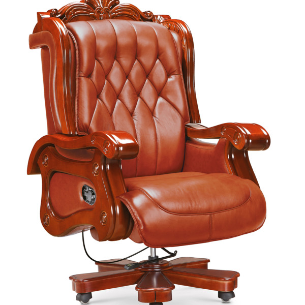 luxury wooden office chair