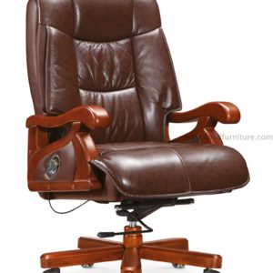 Wooden frame office chair