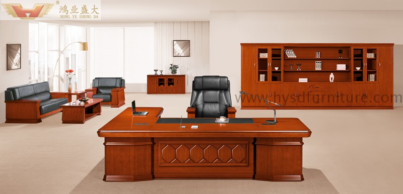 High office desk Automotive Office Modern Wooden Executive Table Buzzlike Presidential High Quality Furniture Luxury Boss Office Desk Hy