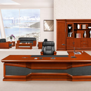 Office Table Furniture High End Wooden Presidential Desk Hy D7632