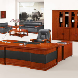 Beau Top Quality Classic Office Furniture Presidential Desk (HY D6624,6628)