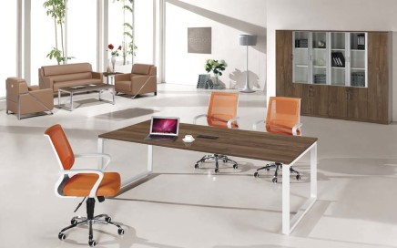 modern wooden meeting table
