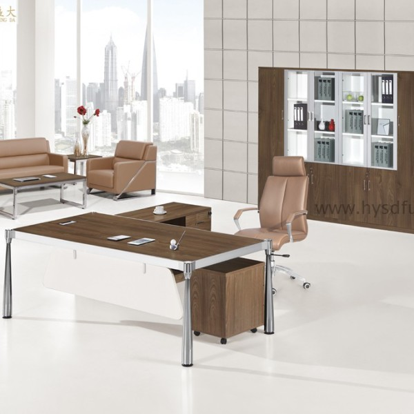modern wooden executive desk
