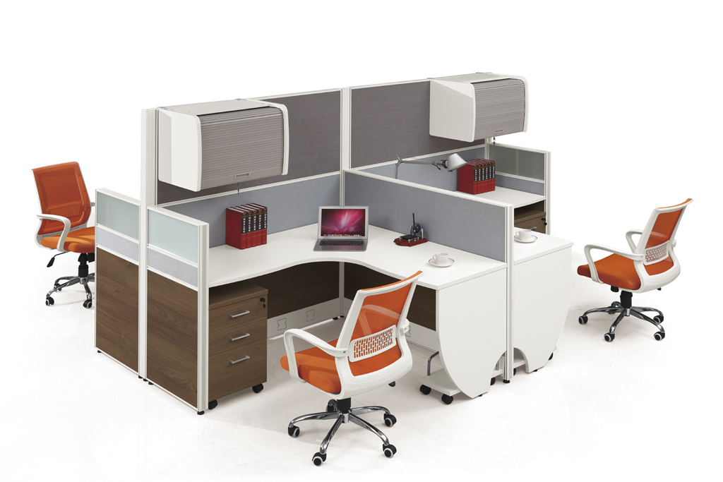 new style office furniture modern workstation for four people