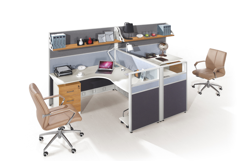 modern new style workstation for two people hy p07