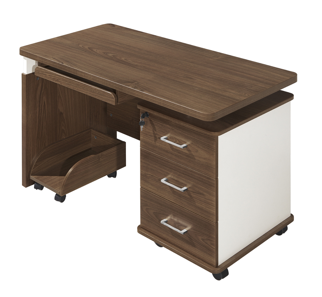 3drawer lock small staff office desk side table