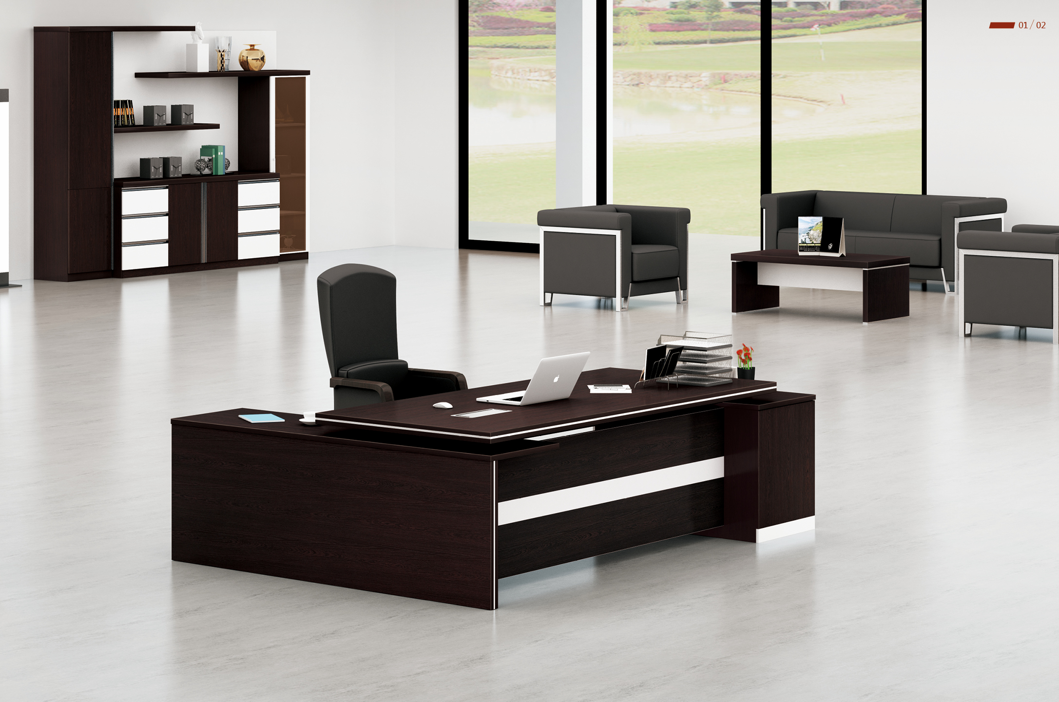 Executive Office Furniture: Executive Modern Desk
