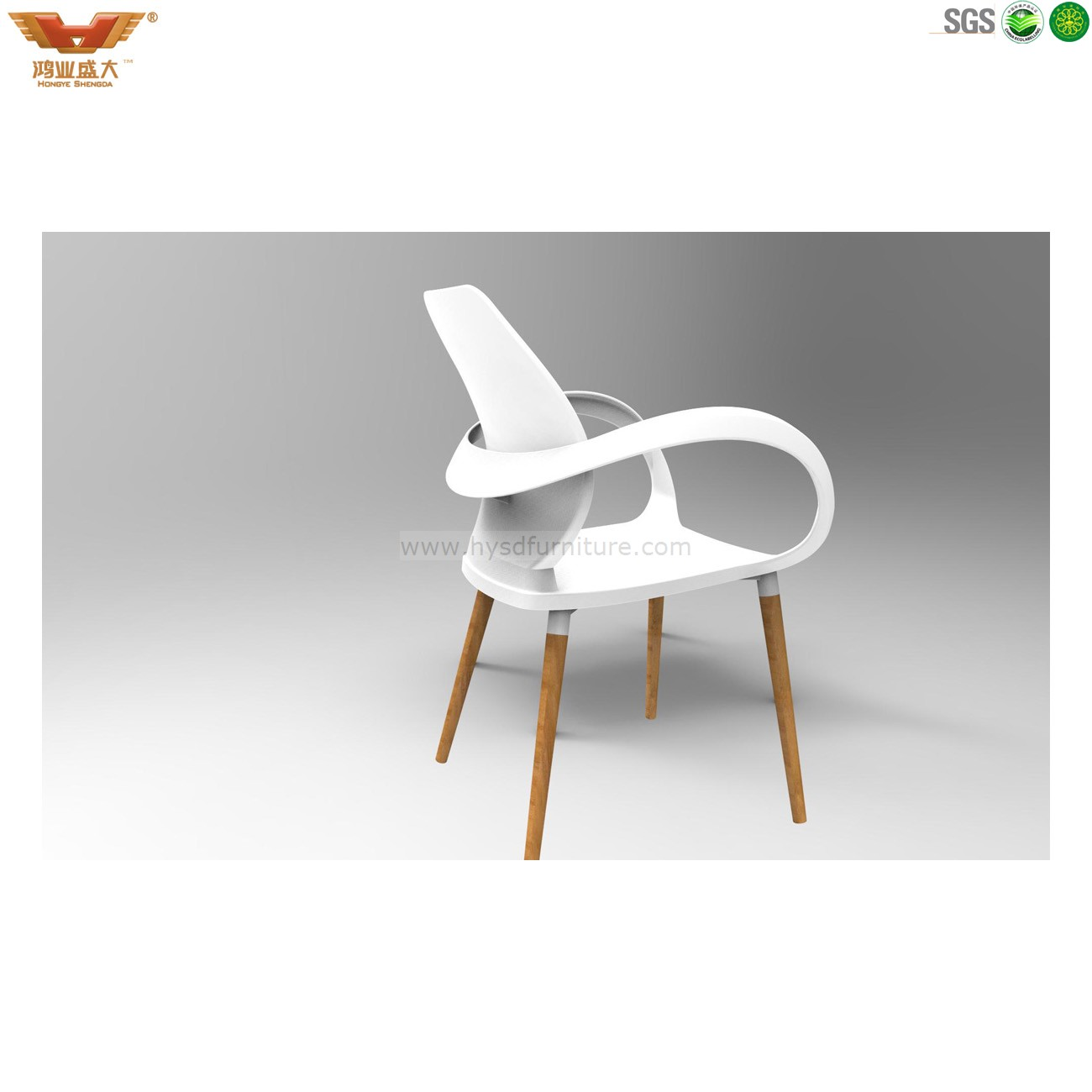Wholesale Modern Plastic Dining Room Chair With Solid Wood