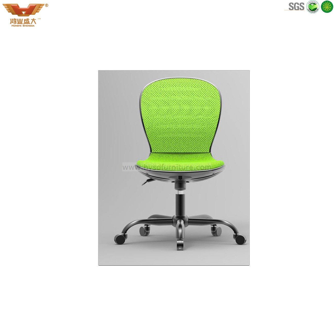 Colourful Fabric Computer Chair Without Armrest China Hongye Shengda Office