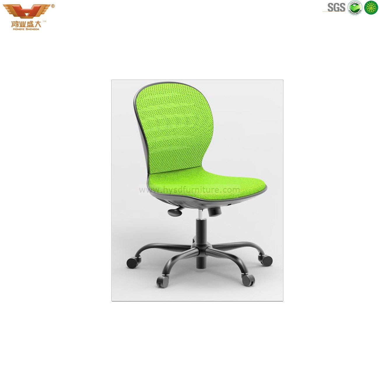 colourful fabric computer chair without armrest china hongye