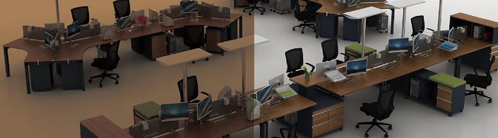 FSC Forest Certified Approved by SGS 2016 New Design Modern 6 Person Seats Office Workstation for Green Office Work Station System Combination Partition (H50)