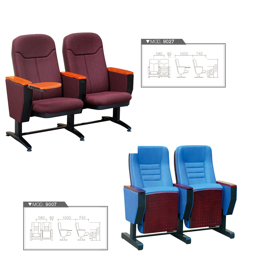 Modern Public Chair Cinema Church Movie Waiting Seating Theater Auditorium  Chair With Writing Board FSC Certified Approved By SGS HY 9007