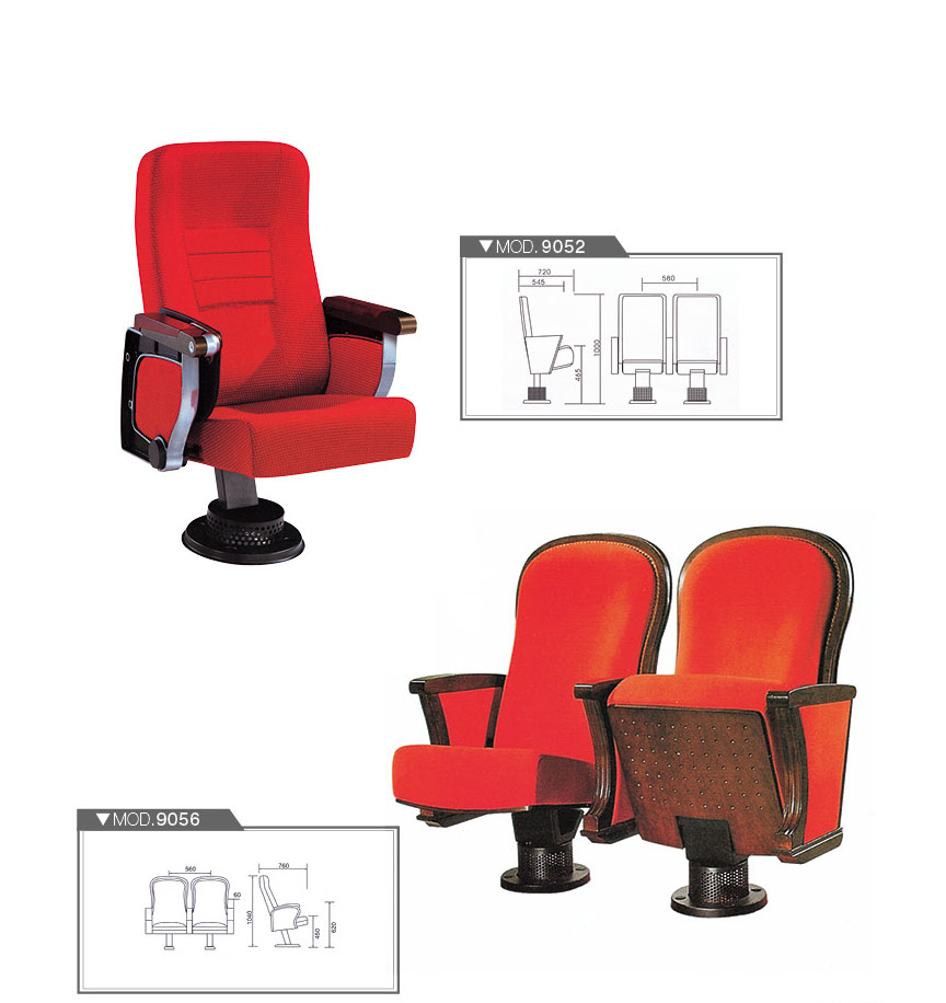 Modern Public Chair Cinema Church Movie Seating Auditorium Chair With  Writing Board FSC Certified Approved By SGS HY 9056