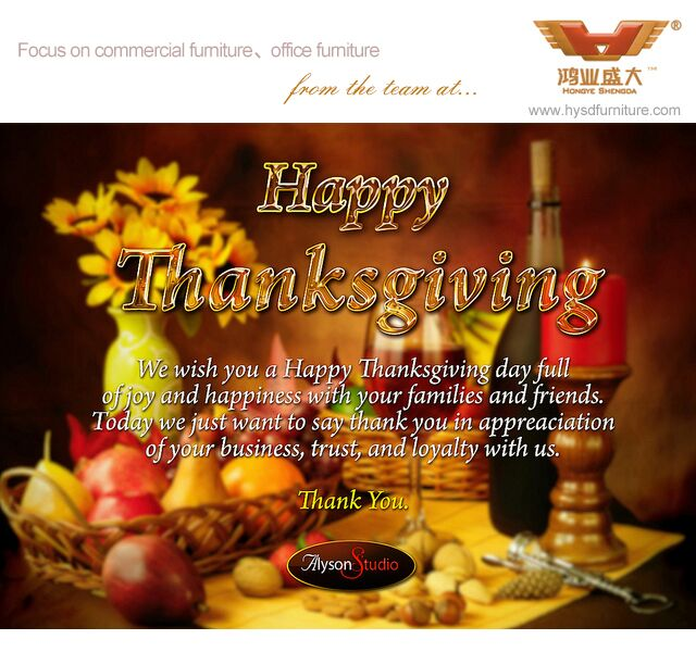 Thanksgiving Day Greating From Honye Furniture