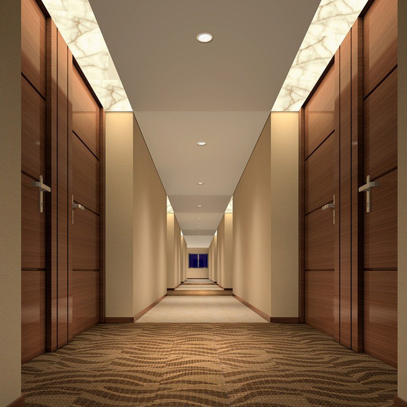 Corridor walls for modern 5 star hampton inn hospitality for Business hotel design