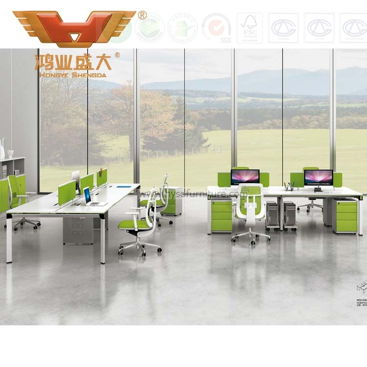 Office desk workstation Corner Glass Green Office Stright White Desk Workstation Hongye Shengda Office Furniture Manufacturer Glass Green Office Stright White Desk Workstation Furniture h50
