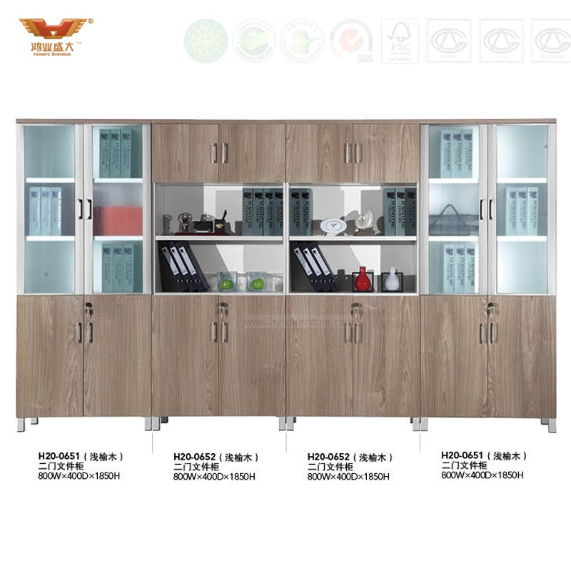 Modern Office Furniture Filing Cabinet with Glass Doors (H20 ...