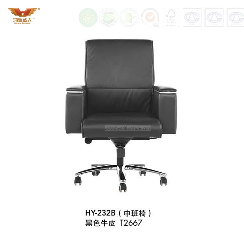 Leather Office Executive Chair With Armrest (HY 232B)