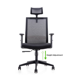2017 Hot Sale High Back Office Ergonomic 360 Swivel Executive Mesh Chair  With PP Armrest And Tilt Lock Adjustable Headrest (HY 179A)