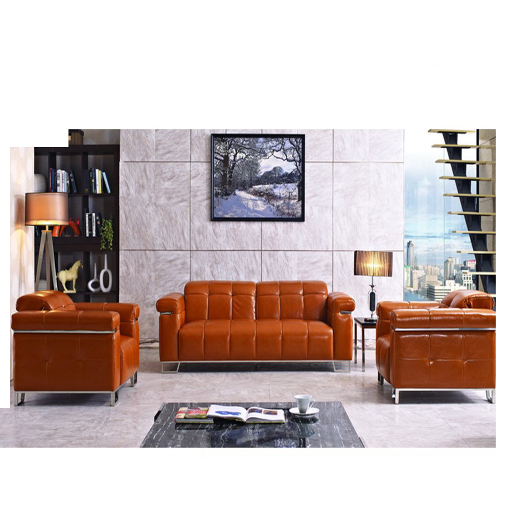 Swell Office Furniture Leather Cushion Sofa Set Caraccident5 Cool Chair Designs And Ideas Caraccident5Info
