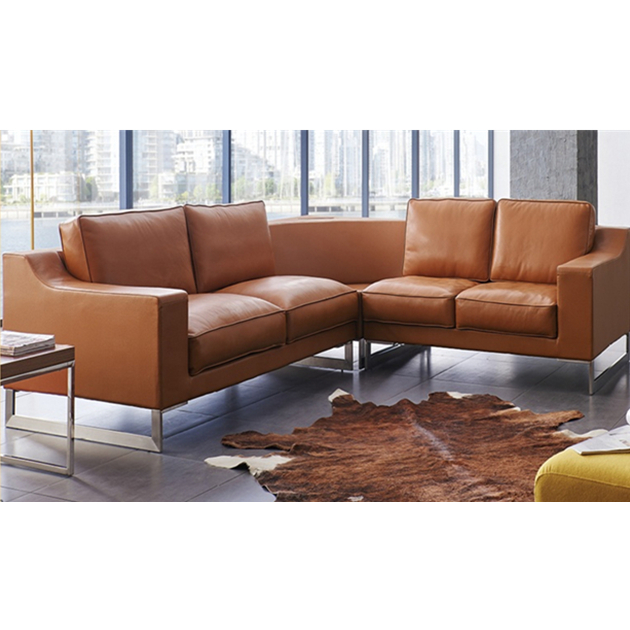 Luxury american style modern living room chesterfield Leather Sofa set  retro design