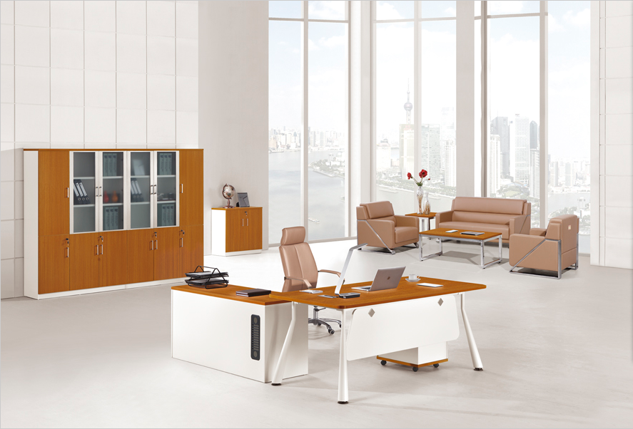 Hot Office Furniture Hy By1807 Teak Wood Modern Executive Desk