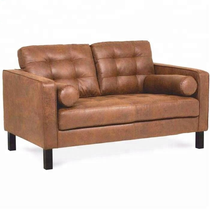 Factory Supply Living Room Used Pu Couch Modern Wood Frame