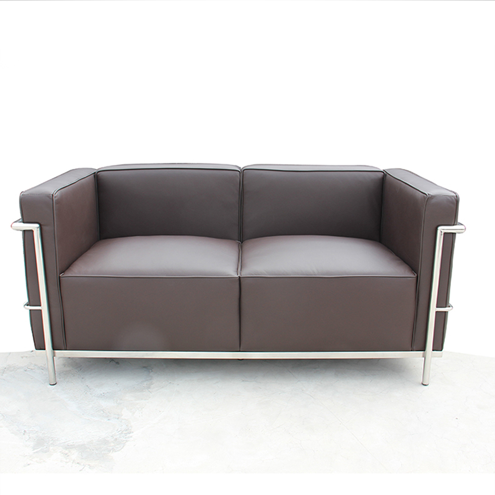 double couch living room seater sofa 2 seater brown modern office leather  sofa
